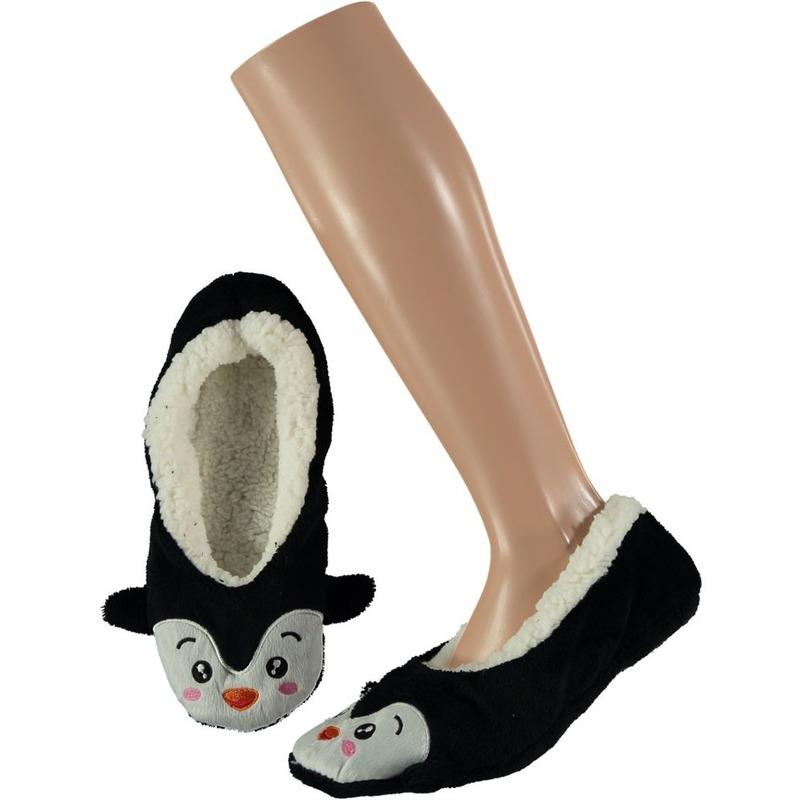 Ballerina huispantoffels/sloffen pinguin voor meisjes