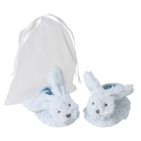 Blauwe Happy Horse konijnen baby slofjes