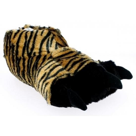 Bruine tijgerpoot pantoffels voor heren
