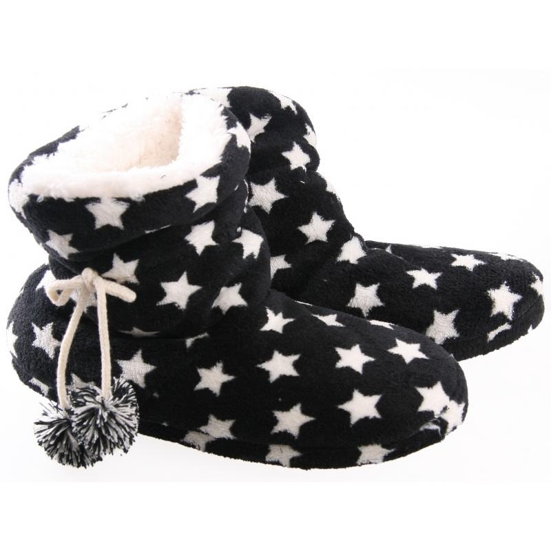 Dames pantoffels/sloffen in het zwart