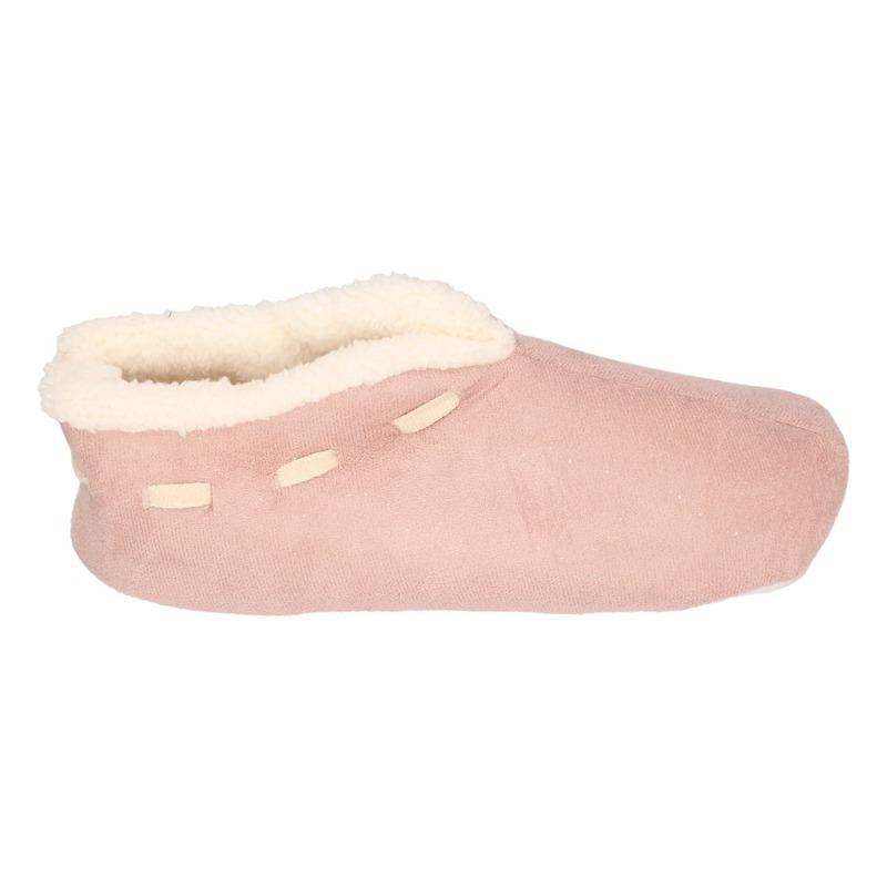 Dames Spaanse sloffen/pantoffels oud roze