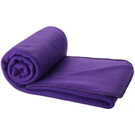 Fleece deken paars 150 x 120 cm