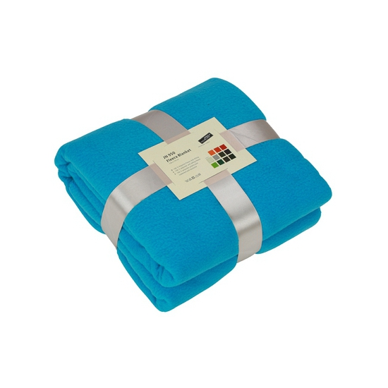 Fleece dekentje in turquoise kleur