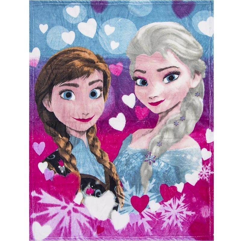 Fleece kleedje Frozen voor meisjes 90 x 120 cm