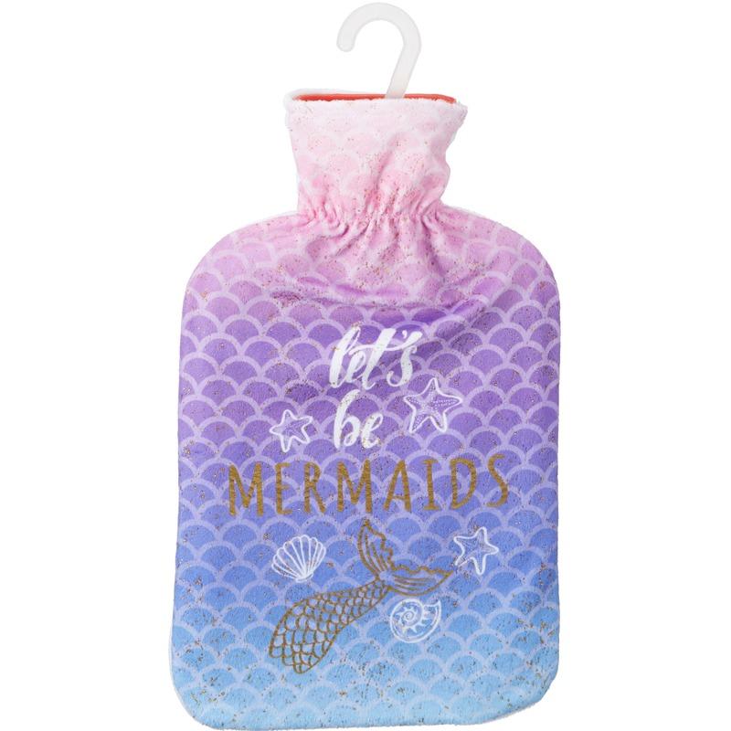 Gekleurde waterkruik 2 liter met zeemeerminnen opdruk en de tekst Lets Be Mermaids