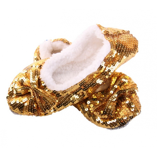 Glitter sloffen goud