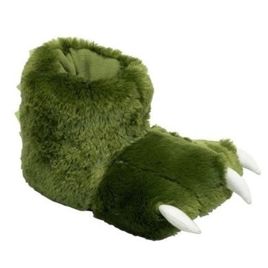 Groene poten pantoffels voor dames