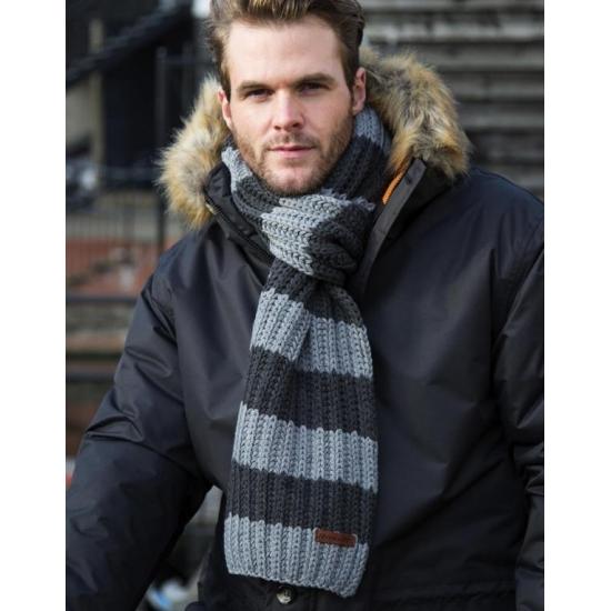Heren winter sjaal grijs/blauw
