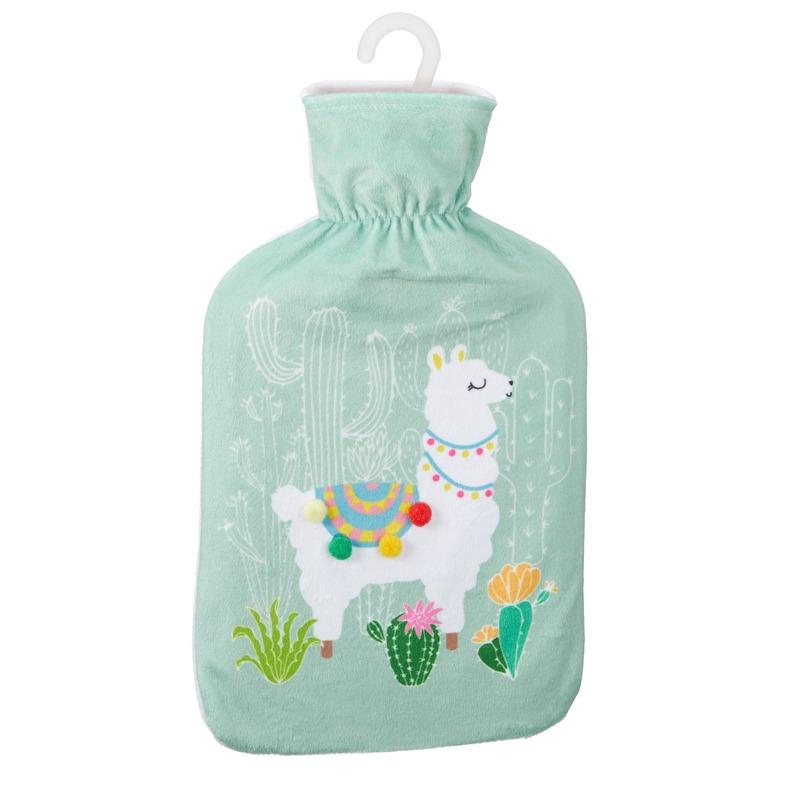 Kruik met lama/alpaca print mintgroen 2 liter