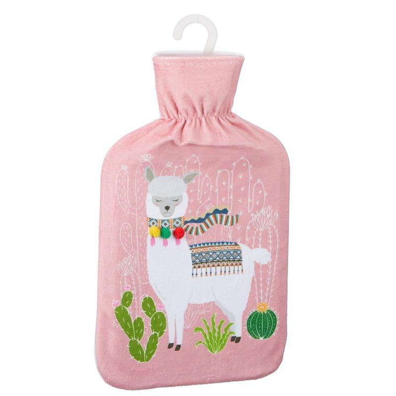 Kruik met lama/alpaca print roze 2 liter