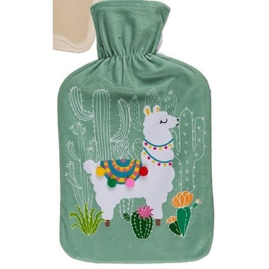 Lama warm water kruik 34 cm groen