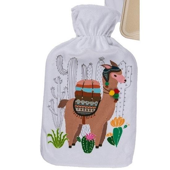 Lama warm water kruik 34 cm wit