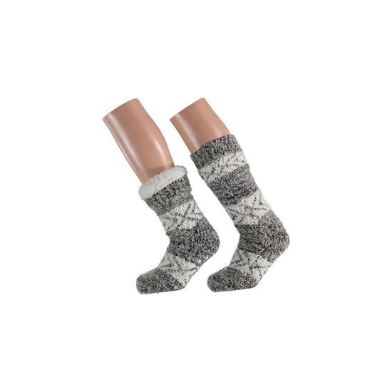 Lichtgrijze dames slof sokken