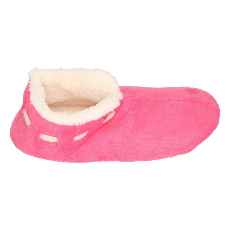 Meisjes Spaanse sloffen/pantoffels fuchsia maat 33-34
