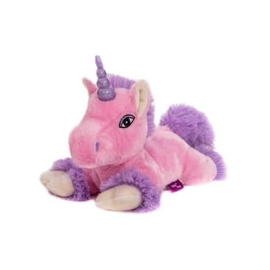 Sloffen webshopWarm knuffel paard met vleugels babyshower kado 18 cm