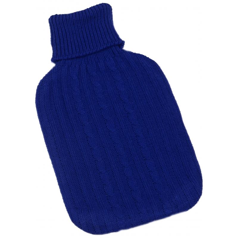 Warm water kruik blauwe hoes 2 L