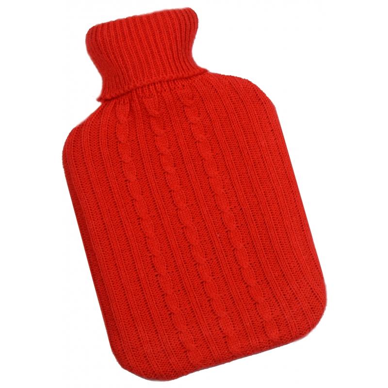 Warm water kruik rode hoes 2 L