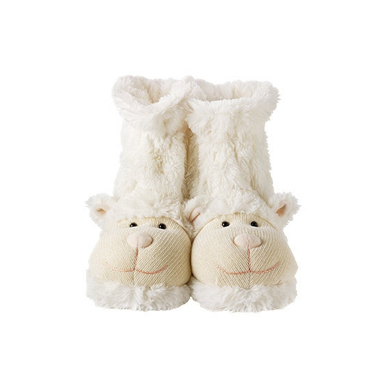 Warme sokken wit lammetje