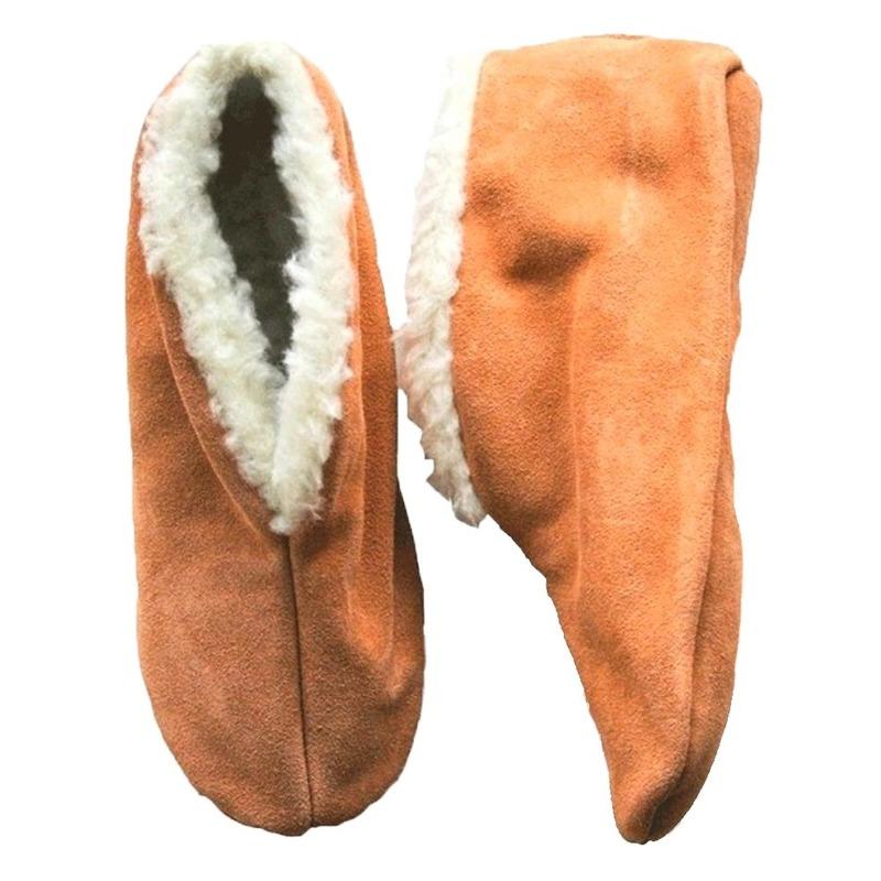 Warme wollen beige Spaanse sloffen/pantoffels voor dames/heren/volwassenen