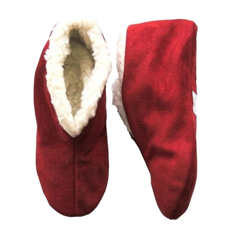 Warme wollen rode Spaanse sloffen/pantoffels voor dames/heren/volwassenen