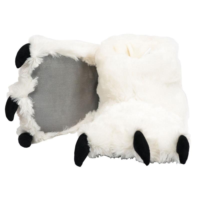 Witte ijsbeer poten pantoffels voor dames