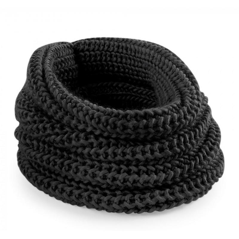 Zwarte heren winter sjaal rond