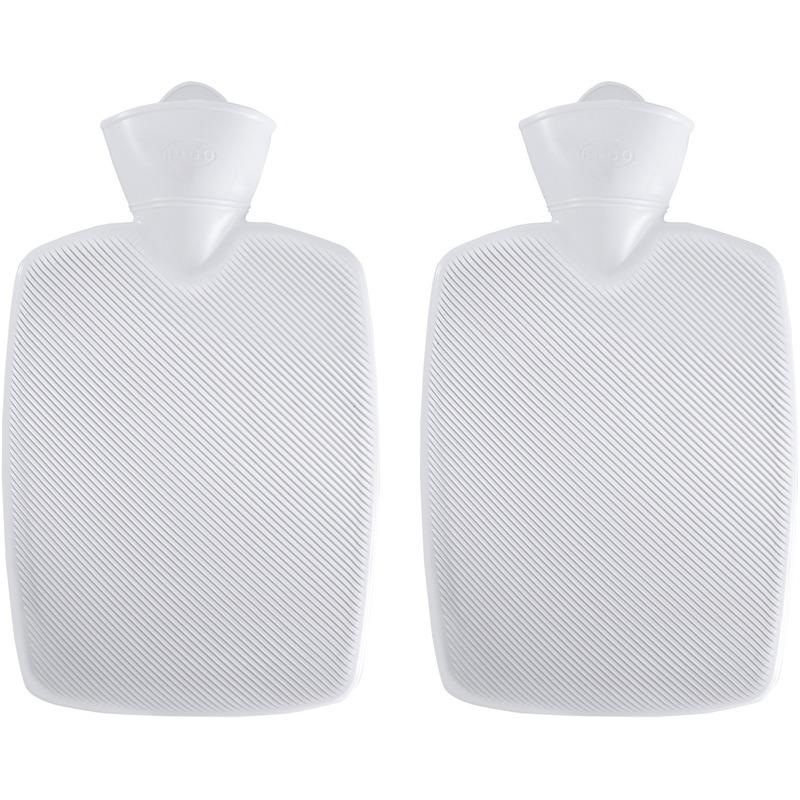 2x Witte kunststof waterkruiken 1,8 liter zonder hoes