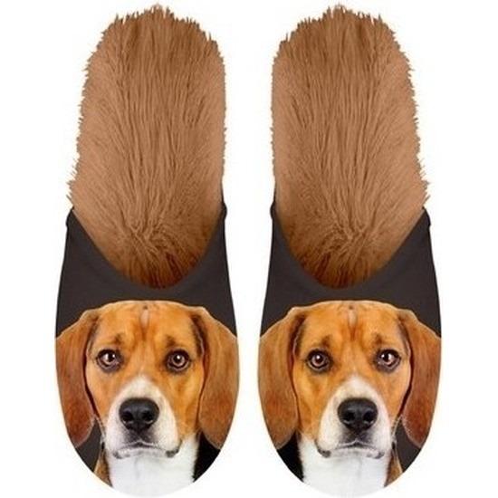Beagles hondjes instap sloffen/pantoffels voor kinderen