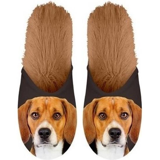 Beagles hondjes instap sloffen/pantoffels voor volwassenen