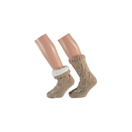 Bruine hond sokken voor kinderen