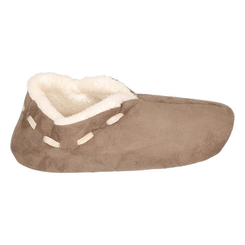 Dames Spaanse sloffen/pantoffels bruin