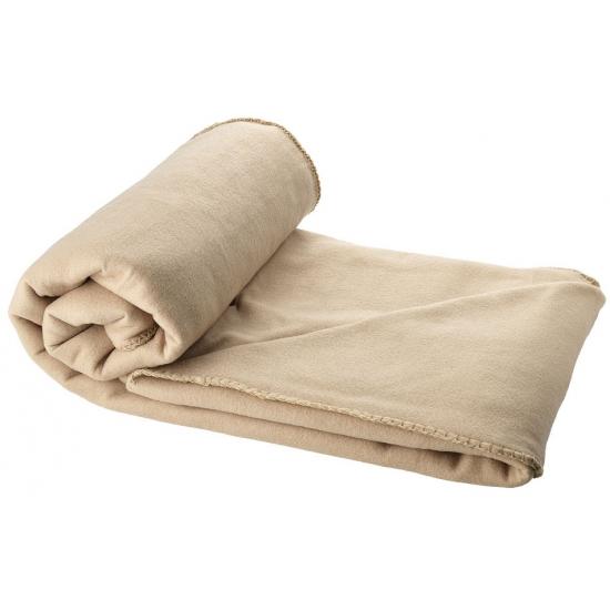 Fleece deken beige 150 x 120 cm