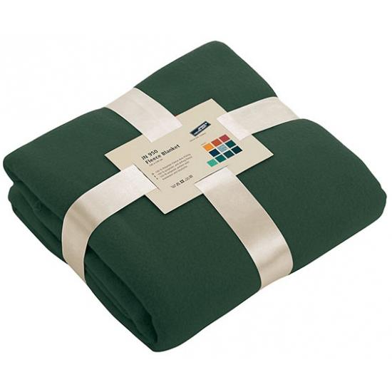 Fleece dekentje in donkergroene kleur