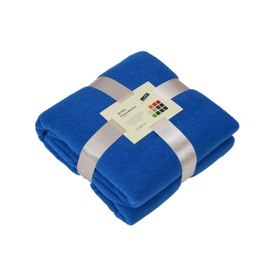 Fleece dekentje in kobaltblauwe kleur