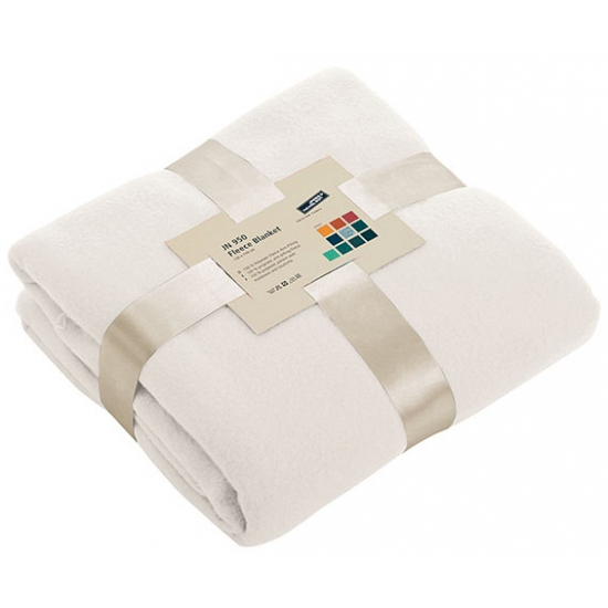 Fleece dekentje in off white kleur