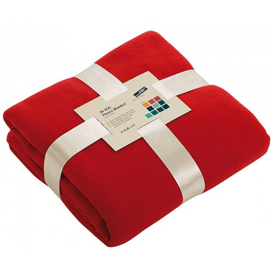 Fleece dekentje in rode kleur