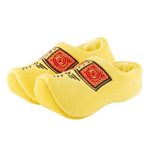 Gele instap klomp sloffen/pantoffels voor kleuters
