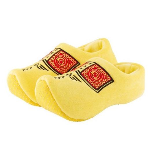 Gele instap klomp sloffen/pantoffels voor peuters