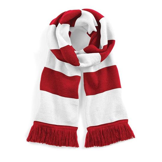 Gestreepte retro sjaal rood/wit