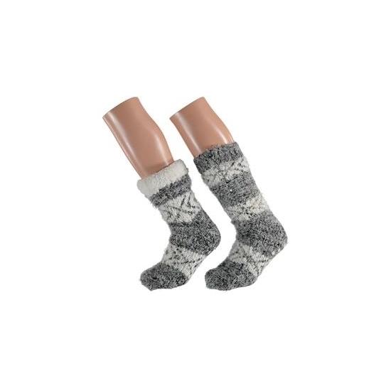 Grijze dames slof sokken