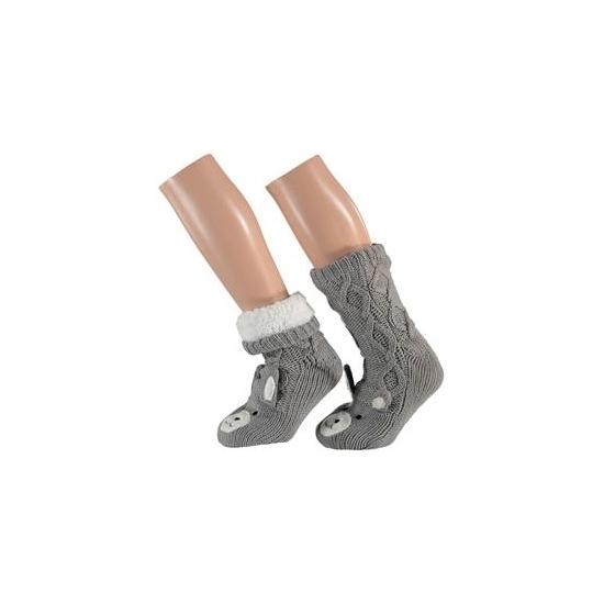 Grijze kat sokken voor kinderen