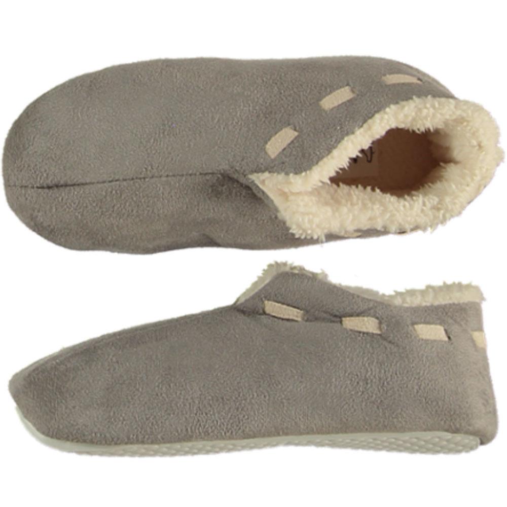 Grijze Spaanse pantoffels/sloffen voor jongens/meisjes