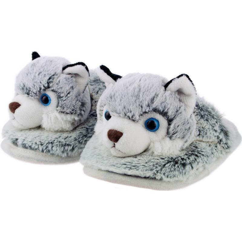 Husky hondjes instap sloffen/pantoffels voor kinderen