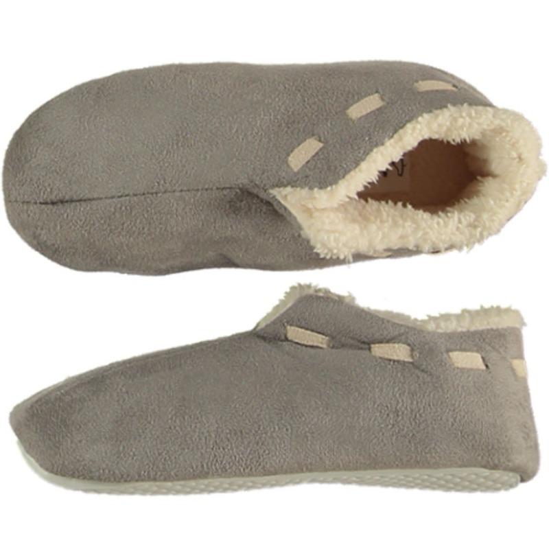 Jongens Spaanse sloffen/pantoffels grijs maat 31-32
