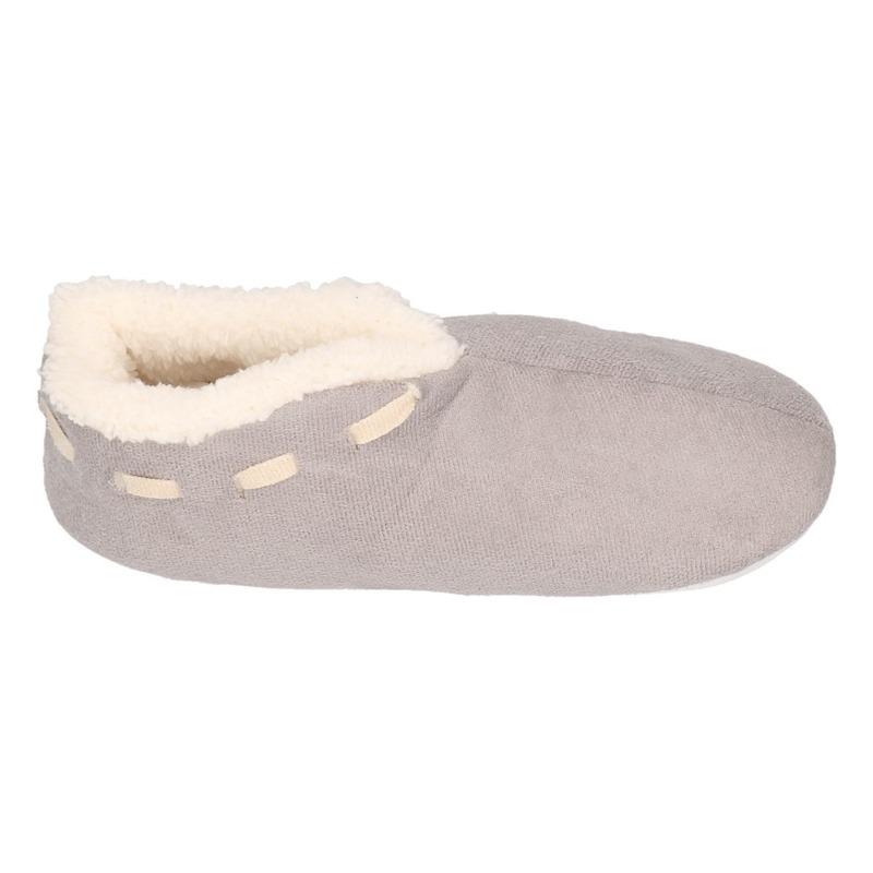 Jongens Spaanse sloffen/pantoffels grijs maat 33-34
