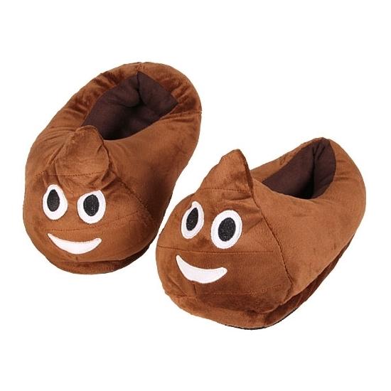 Kinderen poep smiley pantoffels