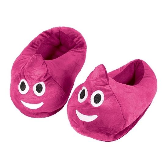 Kinderen roze poep smiley pantoffels
