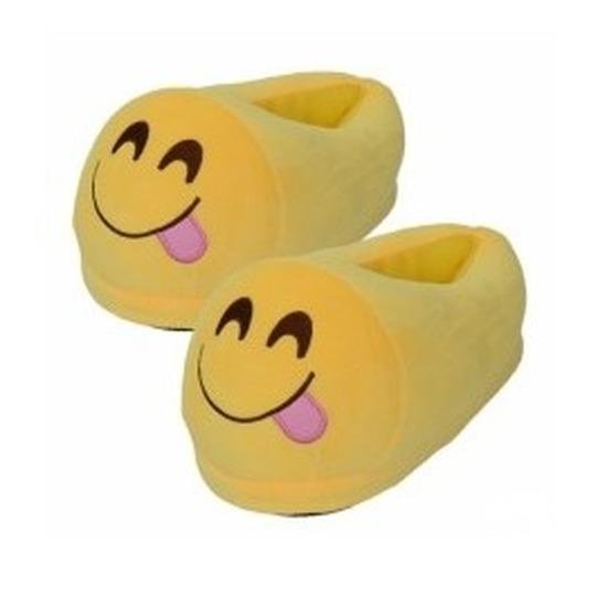 Kinderen smiley pantoffels tong