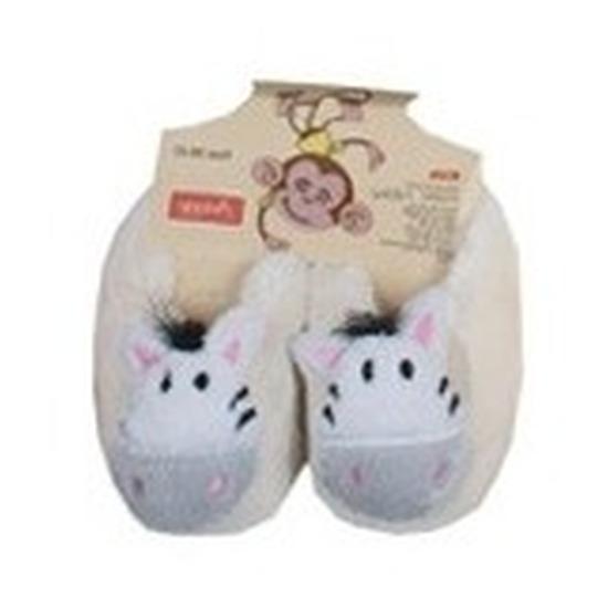 Kraamcadeau kinderslofjes/pantoffels zebra
