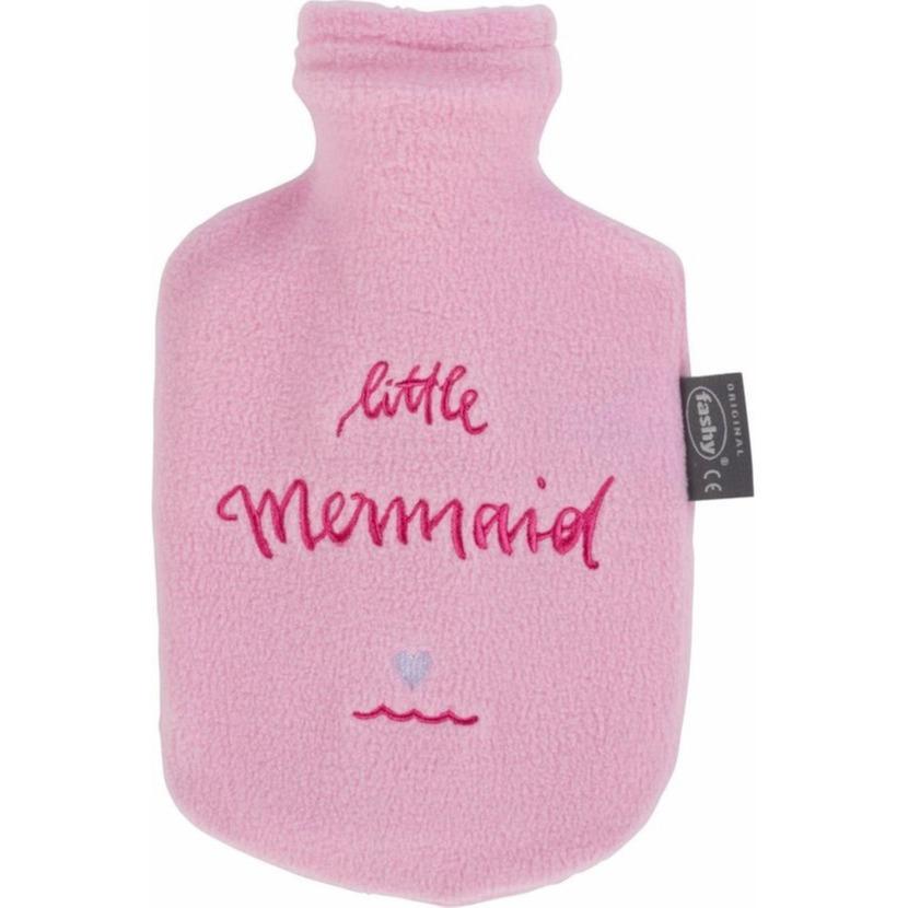 Kruik met badstof hoes met tekst Little Mermaid 0,8 liter